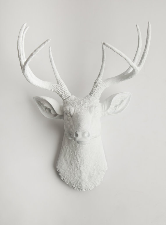 Plastic Deer Head Wall Decor : Faux deer head taxidermy the from