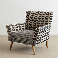 Bangala Armchair by Anthropologie Neutral Motif One Size Furniture