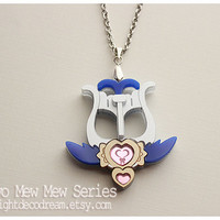 Tokyo Mew Mew Inspired MinTone Arrow Acrylic Necklace for Mahou Kei, Magical Girl Fashion