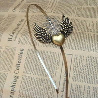 Steampunk Heart Headband Vintage Style Original Design