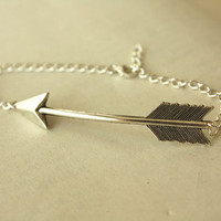 Silver Arrow BRACELET with Sterling Silver Chain
