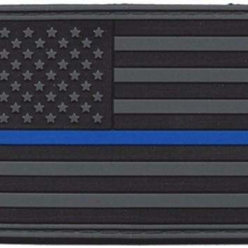 Thin blue line flag patch with cross