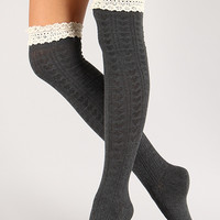 Simple Thigh High Boot Socks