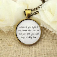 Mumford and Sons Awake My Soul Inspired Lyrical Quote Necklace