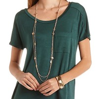 Oversized Pocket Tee by Charlotte Russe