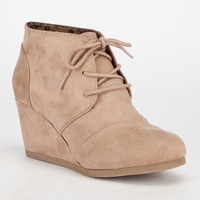 City Classified Rex Womens Wedges Charcoal  In Sizes
