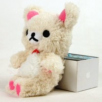Jovilife Plush Toy Bear Cellphone Case for iPhone4/4S, iPhone5/5C/5S (white)