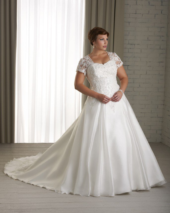 Lace and organza wedding dress princess from for Princess cut wedding dresses