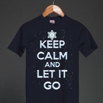 Keep Calm and Let It Go - Frozen T Shirt - many styles and colors to choose from