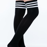 Earn Your Stripes Thigh-High Socks GoJane.com