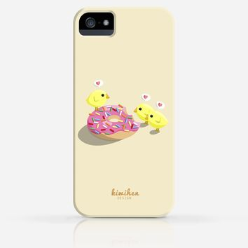 Chicks and Donut Heart Bubbles Cute iPhone 4/4s iPhone 5/5s Case