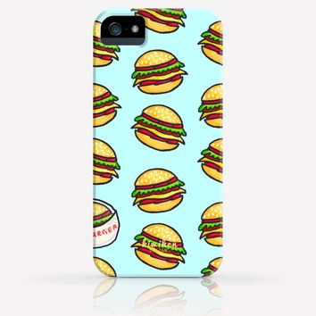 Cute Hamburgers Junk Food Pattern iPhone 4/4s iPhone 5/5s