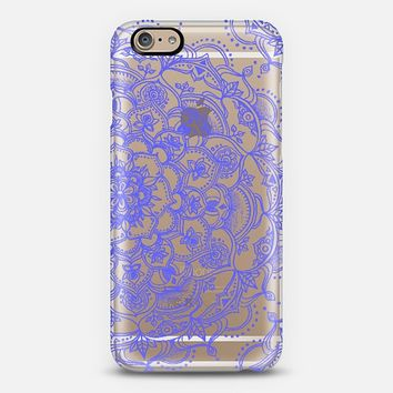 Purple Lace on Crystal Transparent iPhone 6 case by Micklyn Le Feuvre | Casetify