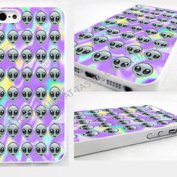 Tie Dye Alien Emoji iPhone 4,4s, 5C, 5S,5,6, 6 plus glossy cover Case
