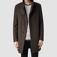 Mens Mire Coat (Ink) | ALLSAINTS.com