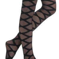 Can You Zig It Tights | Mod Retro Vintage Tights | ModCloth.com