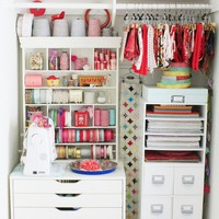 Perfect Organizer Closet Crafts Studio | Shelterness