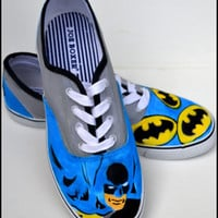 Custom Boys Shoes, Boys Batman Shoes, Personalized Boys Shoes, Batman Sneakers, Painted Sneakers, Boys Shoes