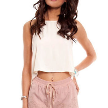 Stitched and Scalloped Shorts