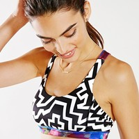 Without Walls Zigzag Print Crisscross Sports Bra - Urban Outfitters
