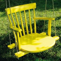 Cool DIY Kids Swing From An Old Rocking Chair | Shelterness