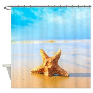 Tropica Beach Starfish Shower Curtain> Shower Curtains> SpiceTree Gift Shop