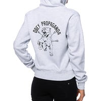 Obey Don't Stop Zip Up Hoodie