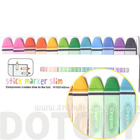 Coloring Crayon Pencils Shaped Art Themed Memo Pad Post-it Index Sticky Bookmark Tabs | Cute Affordable Back To School Stationery Supplies
