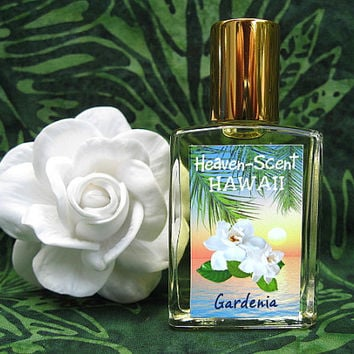 GARDENIA PERFUME. Custom-Blended Roll-on Perfume. Made in Hawaii. 0.5 fl oz (15 ml).