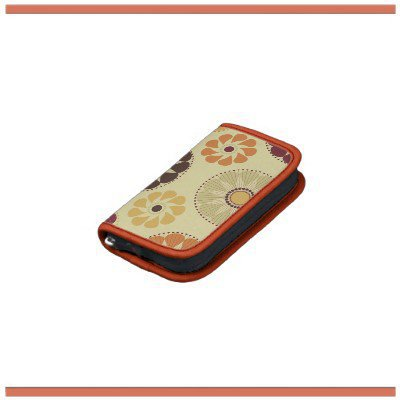 Bold Autumn Flowers Rickshaw Folio Organizer from Zazzle.com