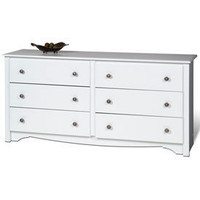 Monterey Six-Drawer Dresser - White