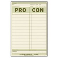 Pro-Con Pad ? Notepad to List Pros and Cons by Knock Knock