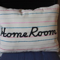 Penmanship Pillow Home Room by shopdirtsa on Etsy