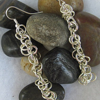 Silver-Plated Chain Earrings