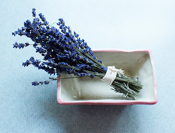 One Bunch of Dried Organic Hidcote English Lavender Lavendar Bundle Buds Stems