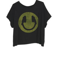 Headphones Smiley Tee