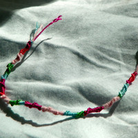 Tri-colored Chinese Staircase Friendship Bracelet