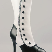 Vicarious Victorian Spat Boots | PLASTICLAND