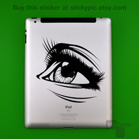 iPad - Gaze (Laptop Decal Removable Vinyl Laptop Sticker Computer Decal PC Apple Macbook Mac Geekery Wall Sticker Moustache)