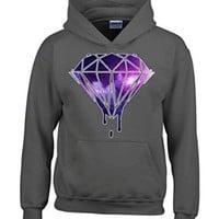 Bleeding Melting Dripping GALAXY Diamond Hoodie Fashion Sweatshirts