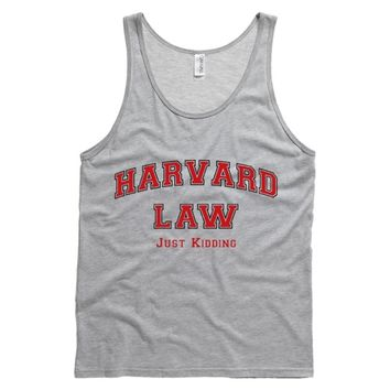 Harvard Law Just Kidding Mens Tank