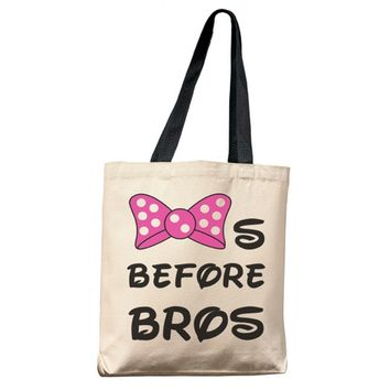 Bows Before Bros Tote Bag