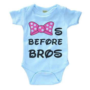 Bows Before Bros Infant Onesuit