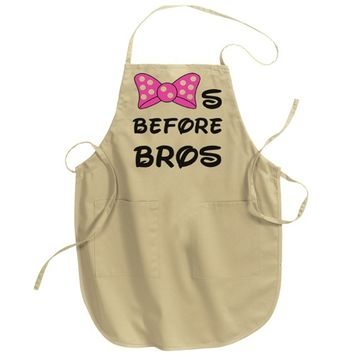 Bows Before Bros Adult Apron