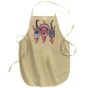 Festive Costume Indian Cats Adult Apron