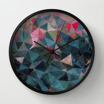 Rose Garden Wall Clock by Selma | Society6