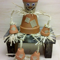 Scarecrow Table Top or Shelf Topper for  Fall harvest thanksgiving CUTE
