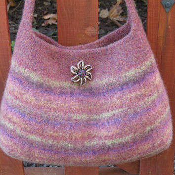 Autumn Evening, Felted Purse Pattern, Knit Bag Pattern, Felted Purse, Knitted Purse, Knitting Pattern, Instant Download, PDF