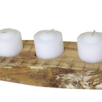 Rustic Country 3 Tea Candle Holder