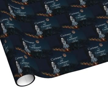 Alice in Wonderland Curiouser Santa Christmas Wrap